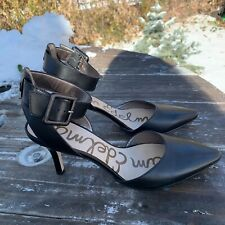 Sam Edelman Black Leather Sling-Back Pumps Size 8.5