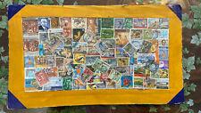 Set 85 Francobolli timbrati Ceylon Sri Lanka