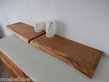 2xWandboard Eiche Wild Massiv Holz Board Regal Steckboard Regalbrett Baumkante !