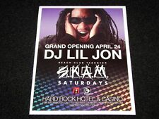 Lil Jon Live @ Hard Rock Las Vegas 15x12 Matted Rap Music Event Promo Poster New
