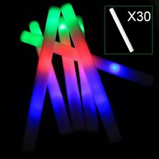 30PCS Light-Up Foam Sticks LED Rally Rave Cheer Tube Soft Glow Baton Wands