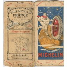 CARTE Michelin N°40 NÎMES-AVIGNON Millau Alais Carpentras Ségur Malaucène 1923