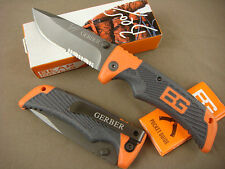 Lockback GB Knife Half Serrated Outdoor Survival Saber Sharp Camping Tools