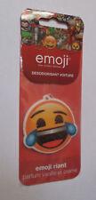 désodorisant voiture Emoji - version riant (parfum vanille et crème)