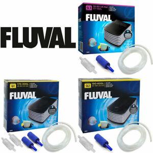 Fluval Q.5 Q.1 Q.2 Aquarium Fish Tank Air Pumps Free Hose Kit Tanks up to 600L