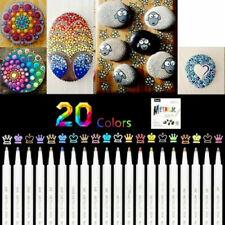 Neu Premium Acrylstifte Marker Stifte für Steine, 20 Farben Marker Paint Pen DE