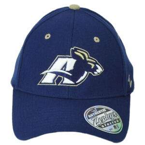 NCAA Zephyr Akron Zips Navy Blue Curved Flex Fit Stretch Medium Large Hat Cap