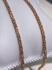585 GOLD Collar 6,9 Gramos,55cm largos,rojo dorado.Nuevo Cadena+Etiqueta