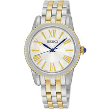 Seiko Neo Classic Srz438 P1 Silver Gold Tone White Dial Women's Analog Watch