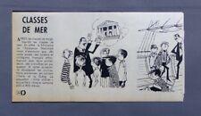 PUBLICITE ANCIENNE ADVERT CLIPPING 121017 CLASSE DE MER POUR LES ELEVES FRANÇAIS