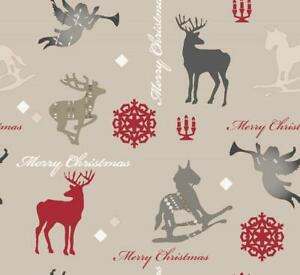 Baumwolle Stoff Weihnachten Weihnachtsmotiv Meterware Deko Stoffe Patchwork