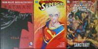 Supergirl: Girl of Steel, Justice League Sanctuary, Batman Year One (DC TPB Set)