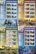 More details for tajikistan paleontology stamps 2020 mnh fossils ammonites dinosaurs 4x 8v m/s