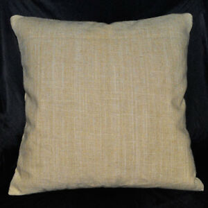 na01a (Sand) High Quality Thick 100% Pure Linen ECO Cushion Cover/Pillow Case
