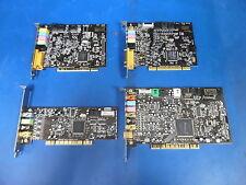 LOT OF 4 SOUNDBLASTER PCI SOUNDCARDS (1-SB LIVE24B,1-AUDIGY2,1-LIVE,1-LIVE5.1)
