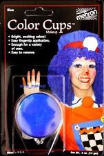 Mehron Clown Blue Foundation Face Paint 0.5 oz Costume Stage Theatrical makeup