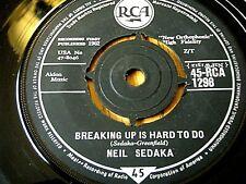 """NEIL SEDAKA - BREAKING UP IS HARD TO DO  7"""" VINYL"""