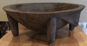 Vintage native pacific islands Fijian large wooden bowl 56 cm