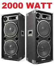 CASSE ACUSTICHE PASSIVE no amplificate attive 2000W DJ PALCO DISCO KARAOKE nuove