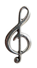 Clave De Sol Música Peltre PRENDEDOR PIN - Hecho a mano en Cornwall