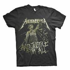 Official Metallica T Shirt And Justice For All Vintage Rock Metal Band Tee Mens