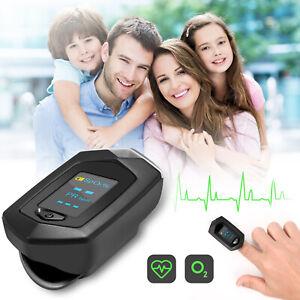 Rechargeable Fingertip Pulse Oximeter Blood Oxygen meter SpO2 Heart Rate Monitor