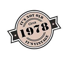 Non è vecchio intorno al 1978 ROSETTA Emblema PER CASCO DA MOTO AUTO ADESIVO VINILE