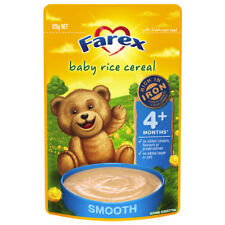 6x Farex Baby Food 4 Months Rice Cereal 125g