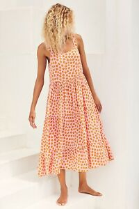 Mister Zimi Leah Midi Dress In Honey Blossom Size 8