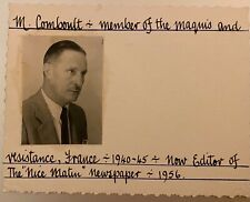More details for maquis/ french resistance m. comboult 1940-45