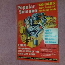 POPULAR SCIENCE -July 1968 - 69 CARS New FORD Engine 40%+ Fuel Mileage -FreeSHIP