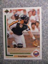 L#604 1991 Upper Deck #158 Craig Biggio, Houston Astros, NrMt condition