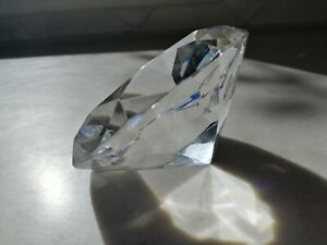 Large diamond paperweight in presentation box; FREE POST