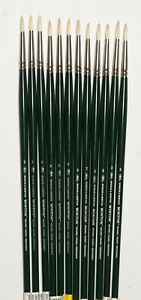 Winsor Newton Size 2 Round Hog Hair Brushes Set of 12 List $97.NOW $24. SAVE 75%