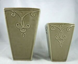 Southern Living Home Bradshaw House Planters Square Beige Ceramic Portugal 41216