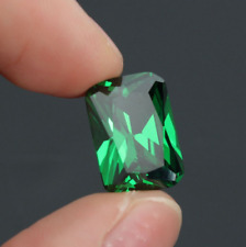 5.2Ct Natural Mined Colombia Green Emerald 8x10MM Emerald Cut VVS AAA Loose Gems
