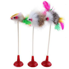 Cat Pet Toy False Mouse And Bottom Sucker Cat Teaser Toys Colorful Feather