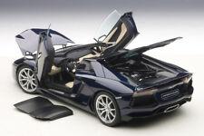 AUTOART LAMBORGHINI AVENTADOR LP700-4 ROADSTER DARK BLUE/TAN INTERIOR 1:18 New!