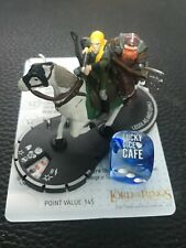 Heroclix Lord of the Rings Two Towers LEGOLAS AND GIMLI #031 SR token on Horse