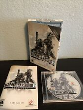 Metal Gear Solid 2 Substance PC Dvd Rom Windows 2003 Konami MGS2 Rare