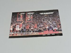 Chicago BULLS Mini Poster - Three Time NBA World Champions 1991-92-93