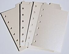 9 Shimmery CREAM  Filofax POCKET size  dividers monthly subject top tab