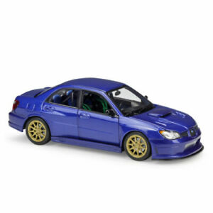 Welly 1:24 Subaru Impreza WRX STI Diecast Model Racing Car Blue NEW IN BOX Toy