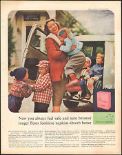 1959 vintage AD FEMS Feminine Napkins Happy Mom at Day School  022016