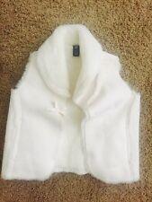 EUC GAP KIDS White Vest Jacket Girls Size 4 ~Hardly Used At All~ Super Cute!!!