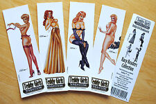 1995 Pin-Up Girl Bookmarks: Racy Readers by Ted Kimer  4 different
