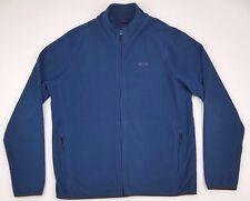Oakley Jacket Medium Fleece Blue Mens Full Zip Logo Size Man Sz Polyester Winter