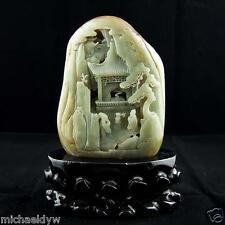 Fine Natural Chinese Hetian Nephrite Jade Antique Statue
