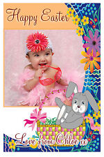 10 Personalised Happy Easter PHOTO Greeting Cards N2