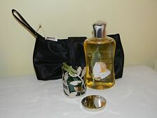 Bath and Body Works Pleasures 1 Full Size White Tea and Ginger Candle/Ring/Case